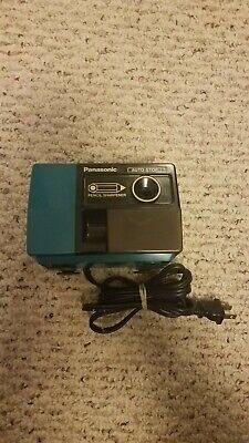Vintage Blue Auto-stop Panasonic Electrical Pencil Sharpener Tested Working