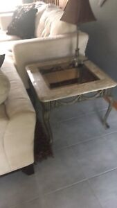 Marble and Glass. Coffee and End Tables