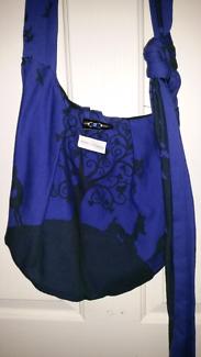 Baby bag made from Kokadi wonderland wrap Amelie
