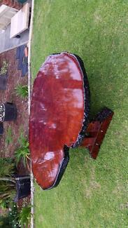 Jarrah burl. Bold display table