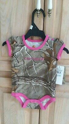Carhartt Infant camo Girls Camouflage Pink One Piece Size 3 Months NWT