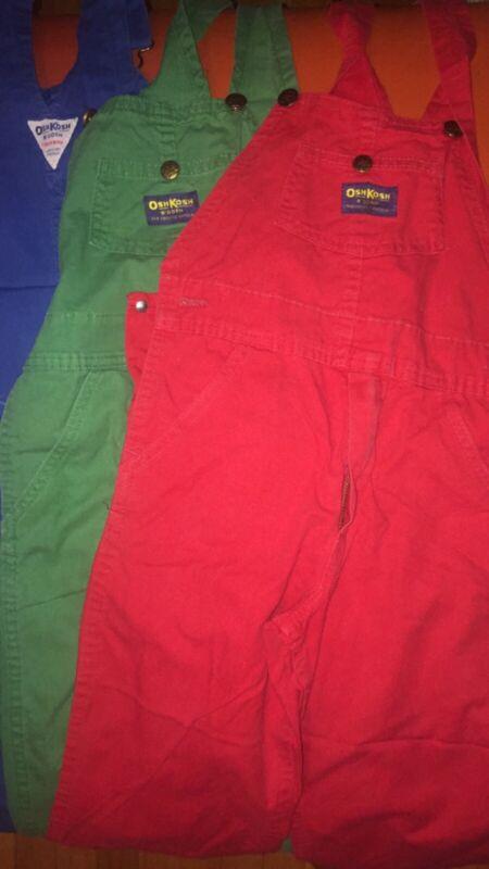 3 Pairs Of Vintage Oshkosh Vestbak Overalls (Late 1960's) Size 8