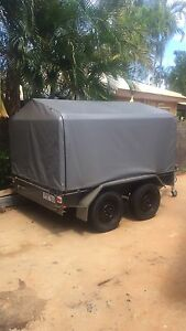 8x5 tandem cage trailer with canvas cover Cable Beach Broome City Preview