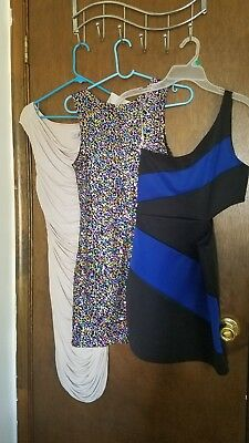 lot of 3 women's evening dresses