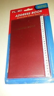 "Pocket Address Book 3 1/2"" x 6"" with Red Removable Sleeve Cover"