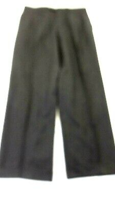 PAZONI MEN'S DARK GREY 100% WOOL DRESS PANTS PLEATED WITH CUFFS SIZE 36 X 30