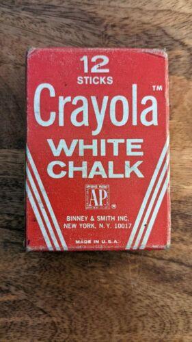 CRAYOLA White Chalk 12 Sticks Vintage In Box