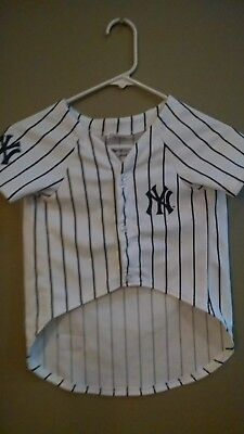 Dog Halloween Costume New York Yankees Baseball Shirt  Size Large Pets First ()