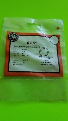 Ge-51 Pnp Germanium Transistors Nos -free Shipping-