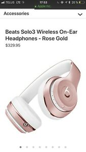 Beats solo 3 wireless rose gold edition limitée NEUVES