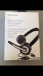 INSIGNIA Deluxe stereo PC Headset ( MULTIPLE QTY)
