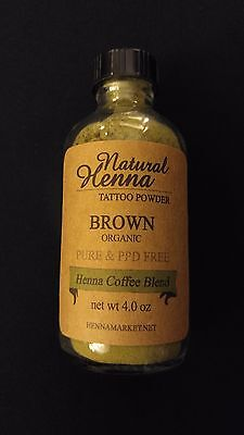 Brown HENNA TATTOO POWDER Mehndi Art Design Best Quality Organic All (New Best Mehndi Design)