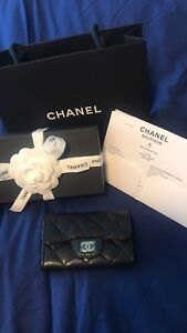 Authentic Chanel card holder complete with receipt