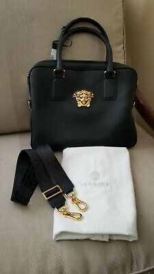 New Authentic Versace Hand Bag/ Purse / Crossbody / Medusa / Black