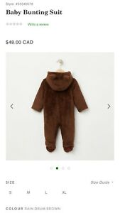 Root bear bunting suit