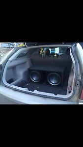 Subs and amp in box!
