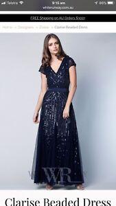 Stunning Evening Formal Ball Gala Gown Dress Size 22 White Runway