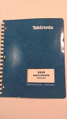 Tektronix Model 2235 Oscilloscope Operators Instruction Manual 070-4207-00 1986