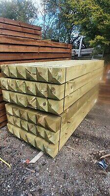 Wooden Timber Gate post 2400 x 150mm x 150mm Beam