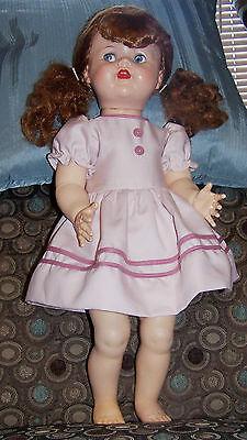 "redhead 22"" Ideal Saucy Walker, lovely dress, nice little doll!"