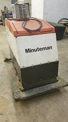 Minuteman Battery Powered Twin Brush Floor Scrubber With Vaccuum
