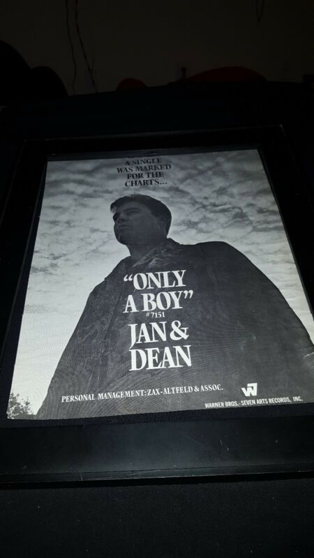 Jan & Dean Only A Boy Rare Original Promo Poster Ad!