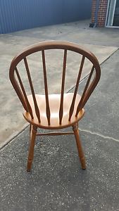 Windsor vintage retro timber  dining chairs x 6 Eden Hill Bassendean Area Preview