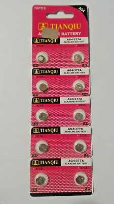 10 Pack LR66 AG4 376 377 LR626 1.5V Alkaline Battery Watch