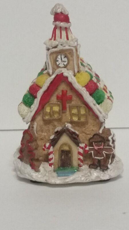 VINTAGE MINIATURE ANIMATED GINGERBREAD HOUSE CHRISTMAS MUSIC BOX