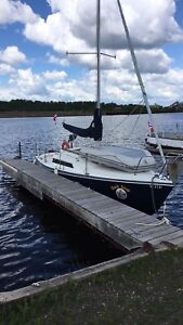 SOLD! 26' Swing Keel Sailboat, plus 7.5 hp outboard and trailer
