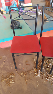 6 black and red dining chairs Wongan Hills Wongan-Ballidu Area Preview