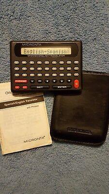 Radio Shack Lcd English Spanish Micronta Translator With Phrases Cat63-697 Used
