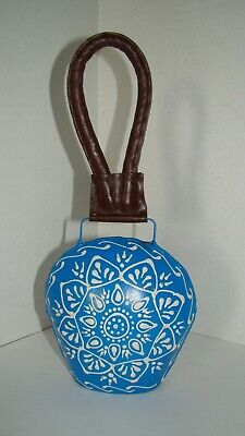 Hand Painted Blue And White Cow Bell