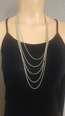 Carrie Bradshaw 80's Mr. T Cool Punk Layered Necklace Fun Costume PSJ USA N16 - Cool 80s Costumes
