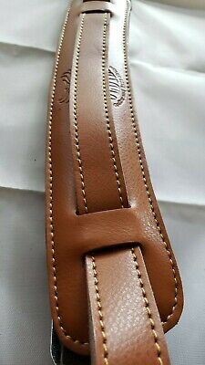 SLASH Vintage Style Leather Adjustable Guitar Strap in LIGHT BROWN!! USA SHIP!