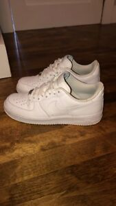 All white air force 1s