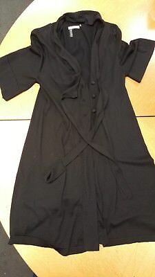 HOSS INTROPIA Womens Black Fine Silk Blend Knit Cardigan Wrap Size M UK 12