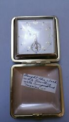 Vintage Westclox Home & Away Folding Compact Travel Alarm Clock Japan