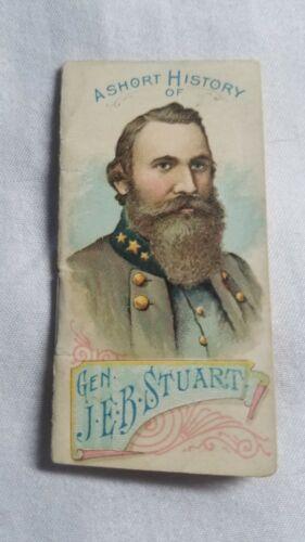 JEB STUART W. Duke Sons & Co. Generals A Short History Of VG+