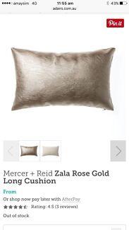 Mercer + Reid - Zala rose gold long cushion