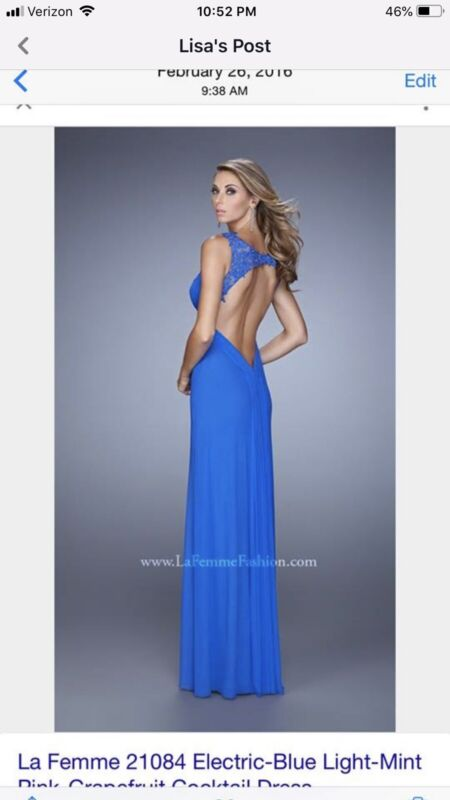 NWOT La Femme  Blue Prom/Formal Dress Size 0