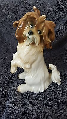 Vintage Antique Porcelain Karl Ens Germany Shih Tzu dog figurine