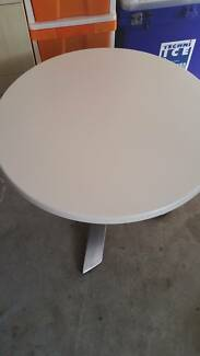 White Round Large Coffee Table