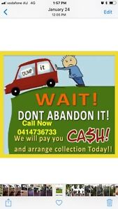 Wanted: CASH FOR UNWANTED SCRAP OLD DAMAGE CARS VAN UTE TRUCK 4X4CALL NOW