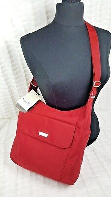 NEW NWT BAGGALLINI WOMEN RED NYLON  BAGG CROSSBODY TRAVEL  BAG PURSE segunda mano  Embacar hacia Argentina