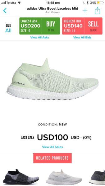 b441938eb2094 Adidas ultra boost laceless
