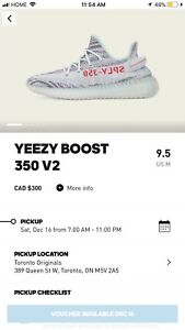 YEEZY BLUE TINTS - DEADSTOCK SZ 9.5