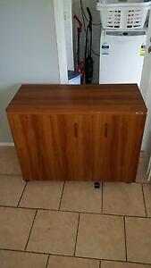 Brother sewing machine, Janome overlocker, and storage cabinet Bradbury Campbelltown Area Preview