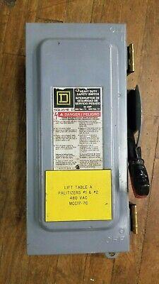 Square D Hu361awk Safety Switch 30a 600vac J1