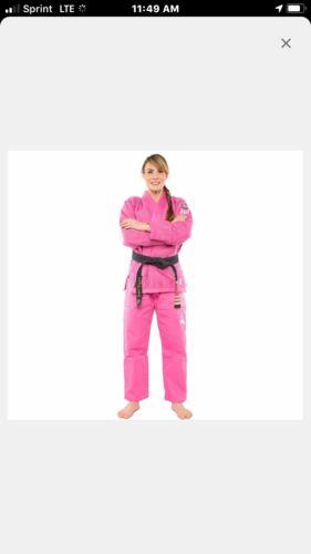 Women's Fuji All Around Pink Ribbon BJJ Gi Size W2 NWT